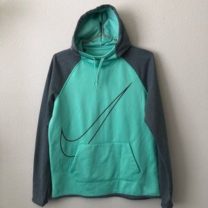 Nike Therma Fit Training Hoodie Pullover gray mint